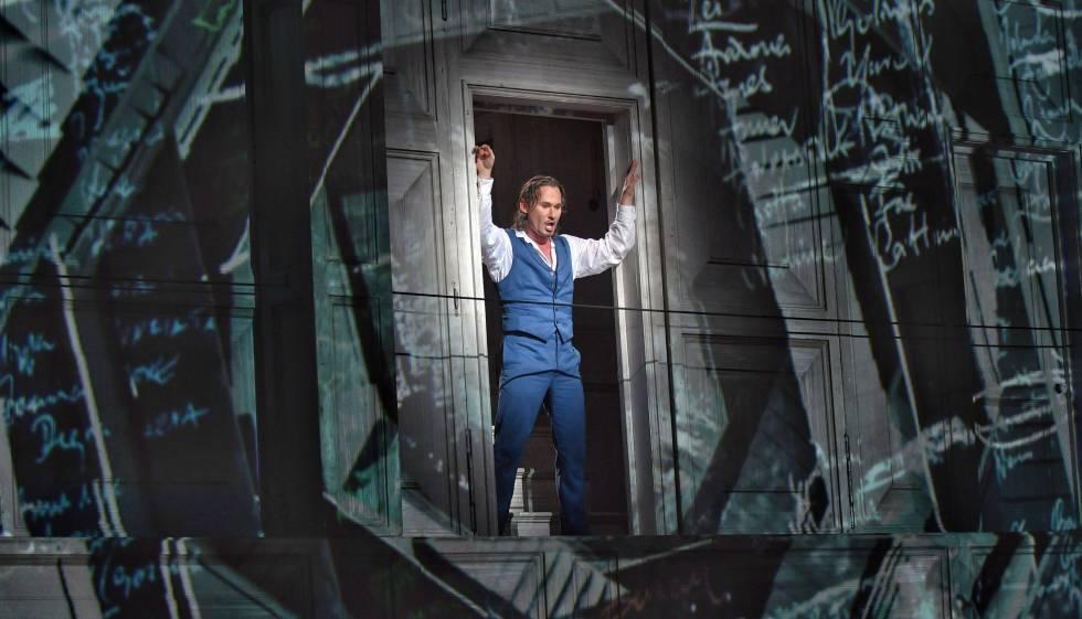 """El barítono Mariusz Kwiecien en un cuadro de la ópera """"Don Giovanni""""."""