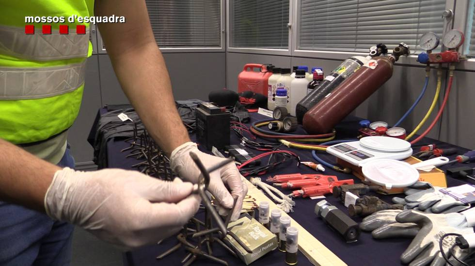 Los explosivos utilizados por el grupo de Cavallín.