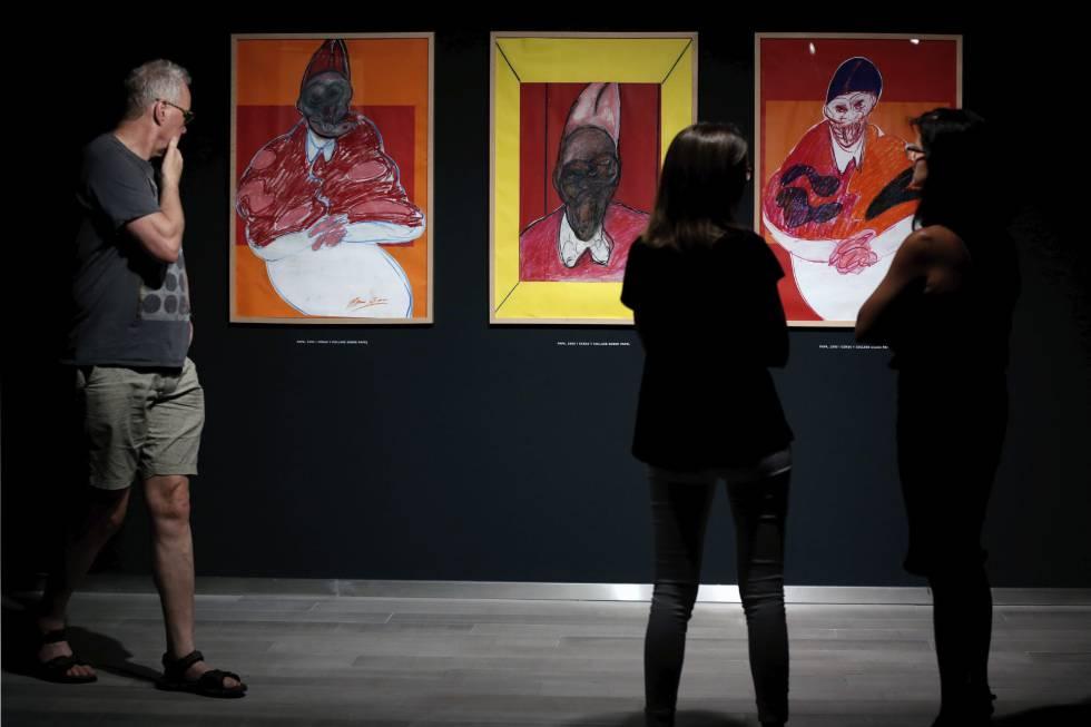 Exposición de dibujos de Francis Bacon en la Fundación Bancaja.
