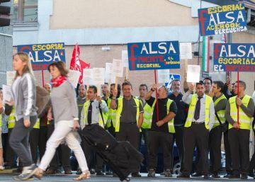 Nueva jornada de huelga de autobús en la Sierra Oeste