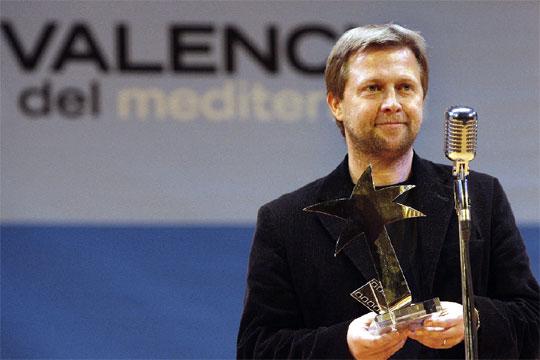 Damjan Kozole, con su premio a la mejor película por  Labour equals freedom .