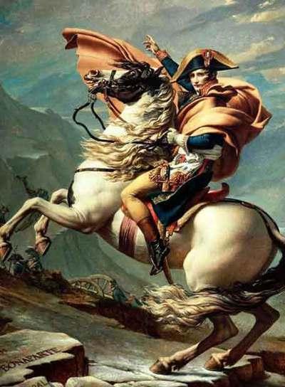 Imagen de 'Napoleón cruzando Los Alpes' de Jacques Louis David