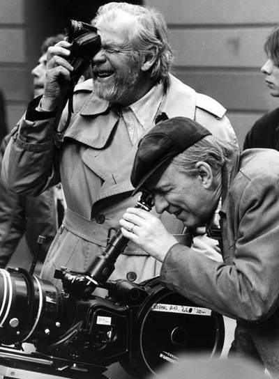 Bergman, durante el rodaje de Fanny y Alexander en 1981.