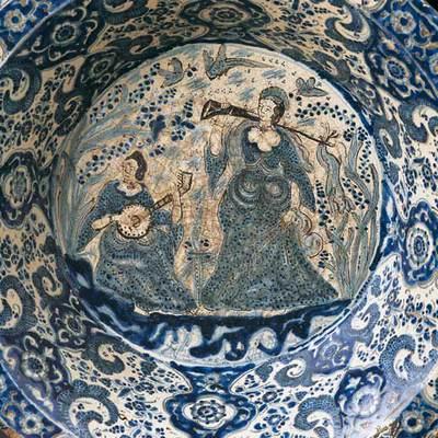Lebrillo. Loza decorada en azul. Puebla, mediados del siglo XVII