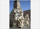 La Fuente de los Cuatro Rios de Roma recupera todo su esplendor