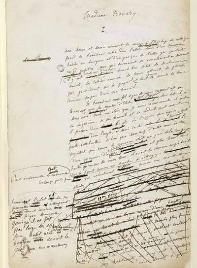 Las 4.500 hojas manuscritas de 'Madame Bovary', en la Red