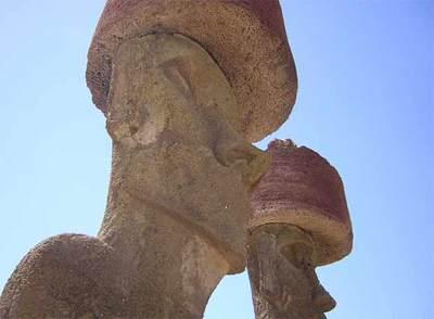 Estatuas de la Isla de Pascua conocidas como moais