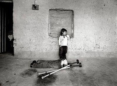 Imagen de Gervasio Sánchez galardonada con el Premio Rey de España de Fotografía