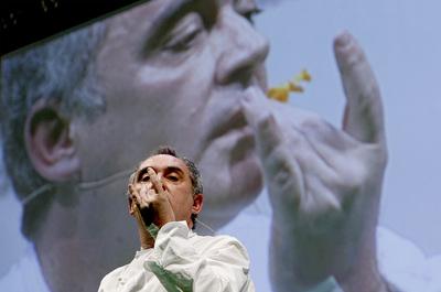 Ferrán Adriá, durante la conferencia que ha pronunció en la octava edición de Madrid Fusión.
