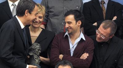 El presidente del Gobierno, José Luis Rodríguez Zapatero, ha recibido en el Palacio de la Moncloa a los premiados del cine español.