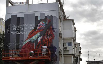 El barrio obrero y sevillano del Polígono de San Pablo ha sido adornado con las pinturas de distintos artistas de todo el mundo