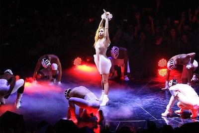 La reina de lo 'freak', en el Palacio de Deportes de Madrid.