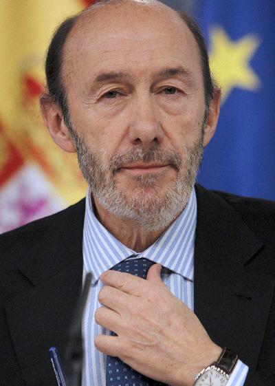 Alfredo Pérez Rubalcaba, durante la rueda de prensa posterior al Consejo de Ministros.