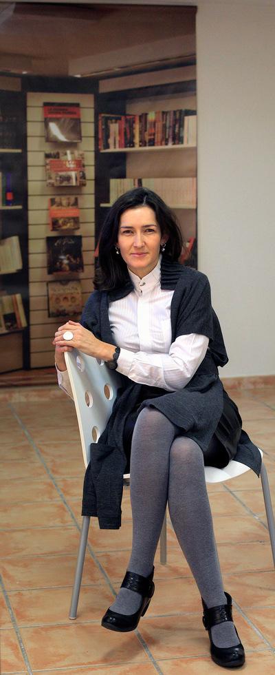 Ángeles González-Sinde, en una librería de Madrid