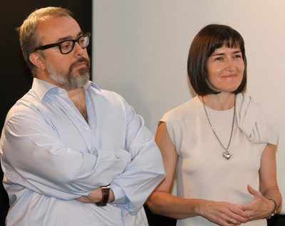 La ministra de Cultura, Ángeles González Sinde, y el cineasta Alex de la Iglesia en una imagen de 2007.