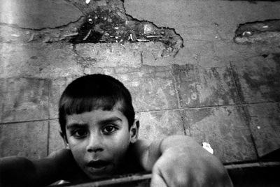 Un niño del barrio bonaerense Villa 15