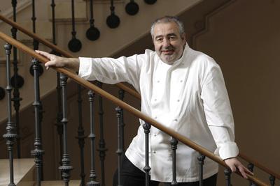 El cocinero Santi Santamaría, en mayo de 2008.