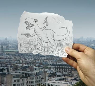 FOTOGALERIA: A lo Godzilla
