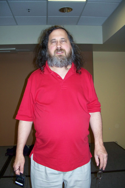 Foto de Richard Matthew Stallman publicada en su web.