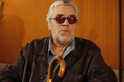 Facundo Cabral, en una rueda de prensa en México en agosto de 2010.