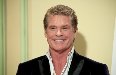 El actor David Hasselhoff, en el hotel Palace de Madrid.