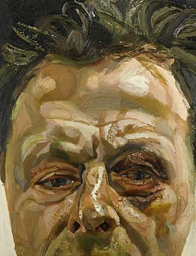 Autorretrato de Lucien Freud que muestra su ojo morado