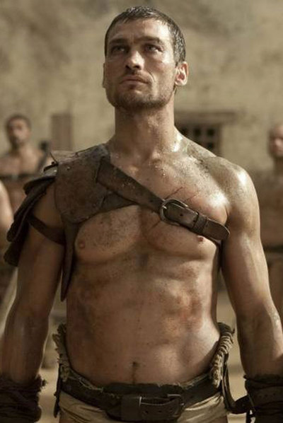 Andy Whitfield, en  Spartacus.