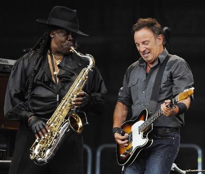 Clarence Clemons (izquierda) y Bruce Springsteen, durante un concierto de julio de 2009 en Alemania.