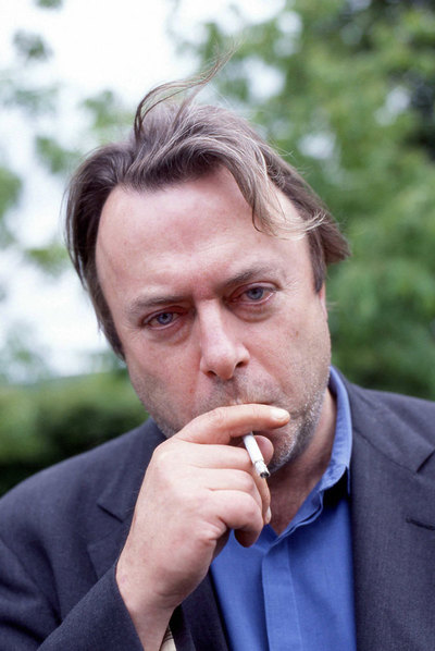Christopher Hitchens, en la localidad galesa de Hay-on-Wye, Powys.