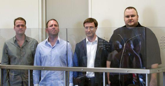 Algunos de los arrestados tras el cierre del portal Megaupload