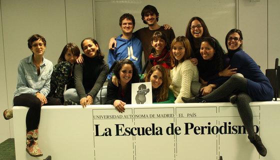 El equipo del proyecto final de digital de la XXV Promoción del Máster de la Escuela de Periodismo UAM  EL PAÍS.