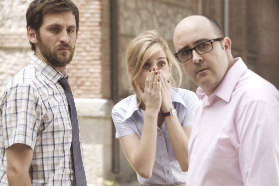 Los protagonistas de 'Promoción fantasma': Raúl Arévalo, Carlos Areces y Alexandra Jiménez