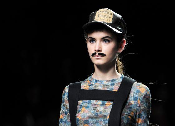 Uno de los diseños de Carlos Díez en la Madrid Fashion Week