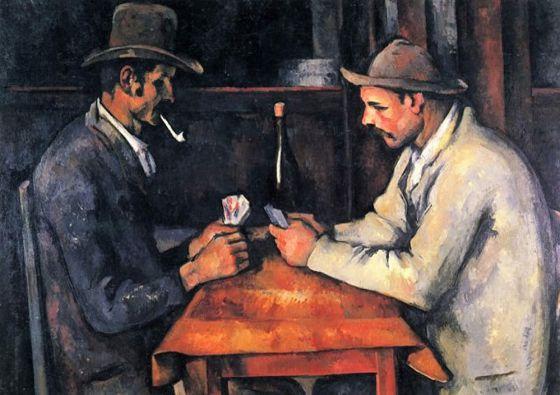 'Los jugadores de cartas', de Paul Cézanne