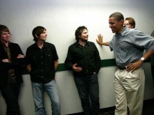 Obama con Wilco en 2008