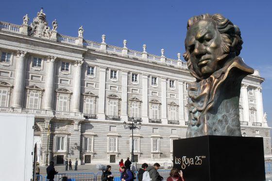 Reproducción de un Premio Goya en Madrid, en 2011