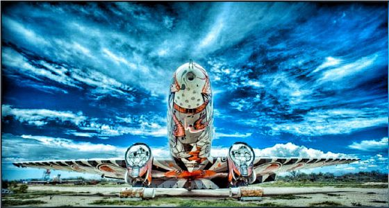 Uno de los aviones del Boneyard Project.