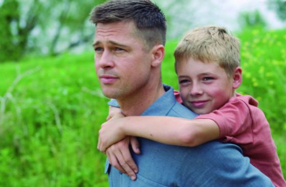 Brad Pitt, en un momento de El árbol de la vida