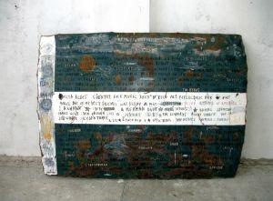 Una pieza de la exposición 'Chatarra americana', de Félix Curto, en el MUSAC