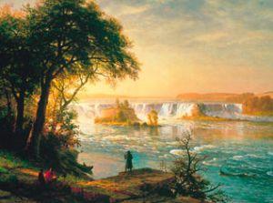 Paisaje de Albert Bierstadt en la exposición 'Paraísos y Paisajes. De Brueghel a Gauguin' en la Colección Carmen Thyssen-Bornemisza