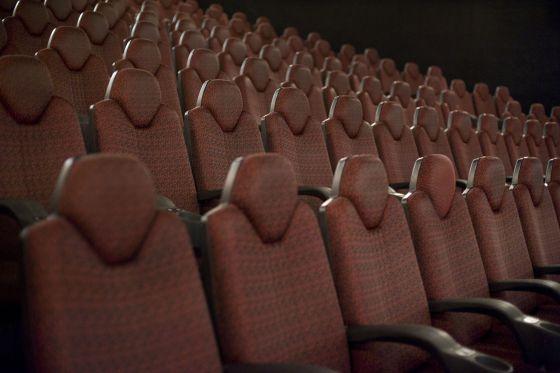 Una sala de cine vacía de Filmax en la Fira 2 de Barcelona.