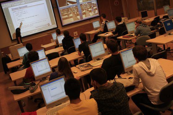 Un aula de la Universidad Carlos III