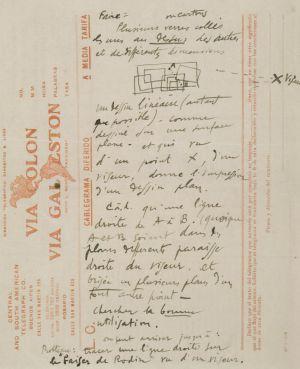 Nota manuscrita de Duchamp