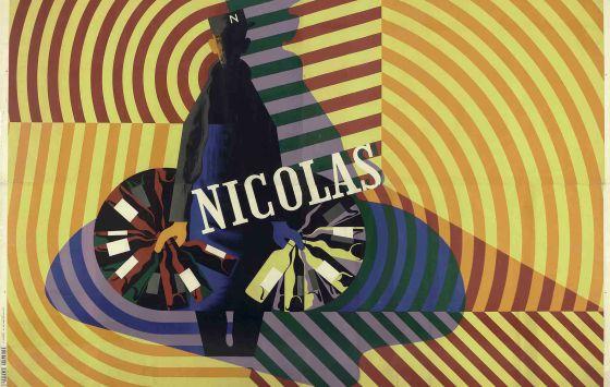 Cartel anunciador realizado por el estudio Cassandre (Adolphe Jean-Marie Mouron) (Francia, 1901-1968), para Nicolás (1935).
