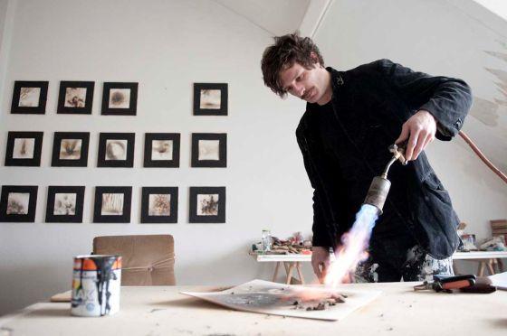 Xavier Gonzalez, en su estudio berlinés.