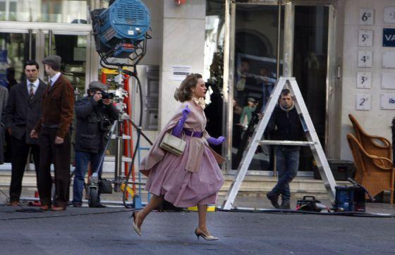 Rodaje de '¡Atraco!', dirigida por Eduard Cortés, en el centro de Valencia.