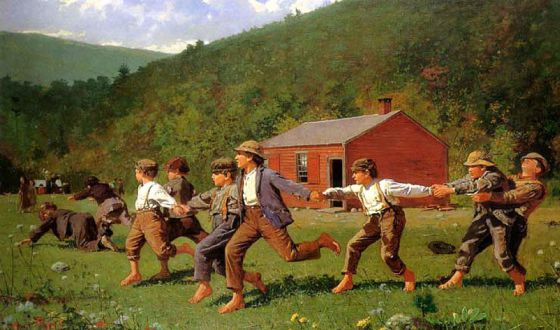 'Snap the whip', de Winslow Homer.