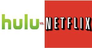 Logotoipos de las plataformas de 'streaming', Hulu y Netflix.