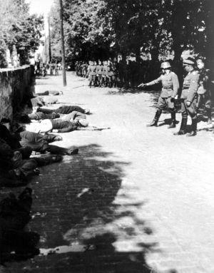 Imagen de la ejecución de rehenes por la Wehrmacht