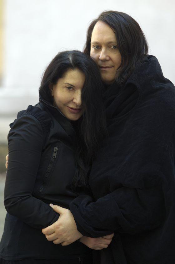 Antony y Marina, ayer en Madrid.